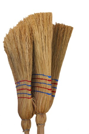 made by hand: Sorghum hand made brooms brushes cleaning products