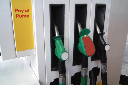 fuelling pump: fuelling nozzles. filling station pump