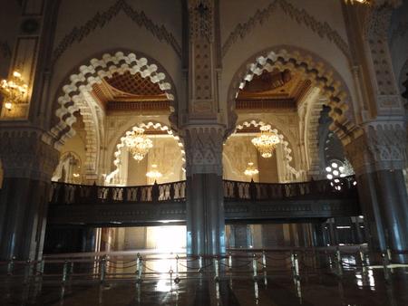 Inside Hassan II mosque in Casablanca Editorial