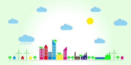 Eco town Stock Vector - 16025175