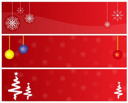 Red Christmas banners Stock Vector - 16442564