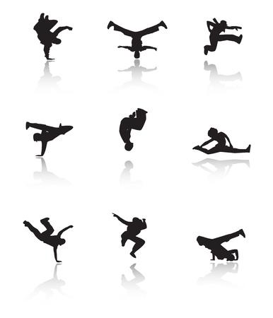 hip hop dance pose: Hip hop establecer