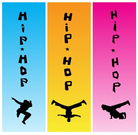 Set of three hiphop banners Vector