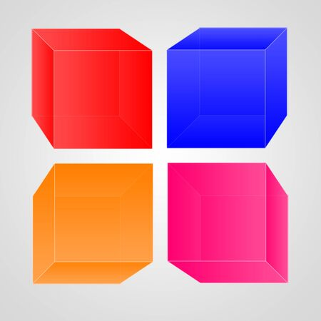 Cube color logo with white background Stock Photo - 16803535