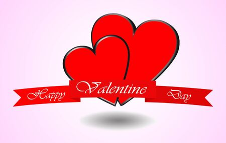 valentine red love hearts Stock Photo - 17098605