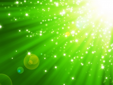 Abstract magic light green background