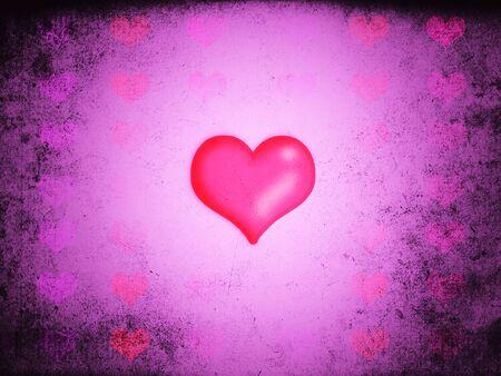 Pink love hearts Stock Photo - 17328689