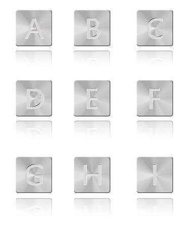 Metal font Button A - I Stock Photo - 17328654