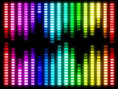 Colorful music volume photo