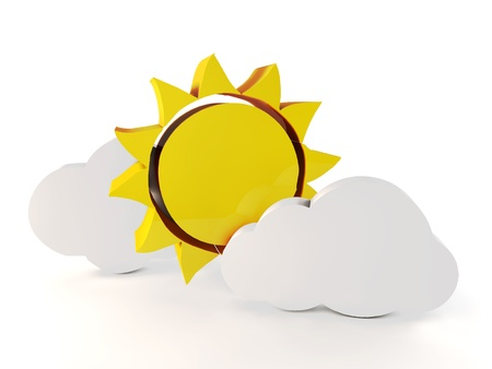 Sun and cloud 3d photo