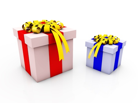 Gift BoxGift box with ribbons and bow Stock Photo - 17899175