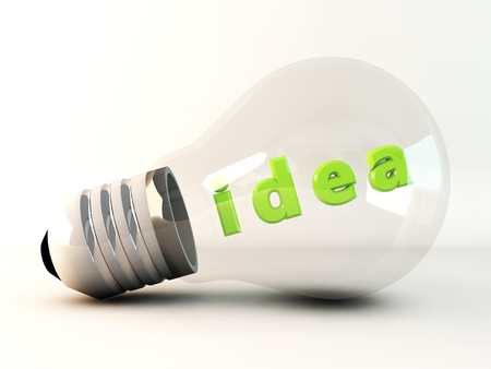 green idea light bulb Stock Photo - 17880337
