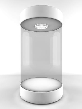 Empty glass showcase photo