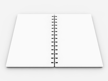 blank realistic spiral notebook photo