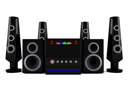 3d Stereo speakers photo