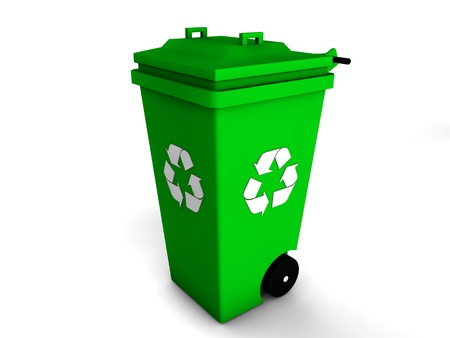 3d recycle bin Stock Photo - 18130555