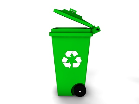 3d recycle bin Stock Photo - 18130547