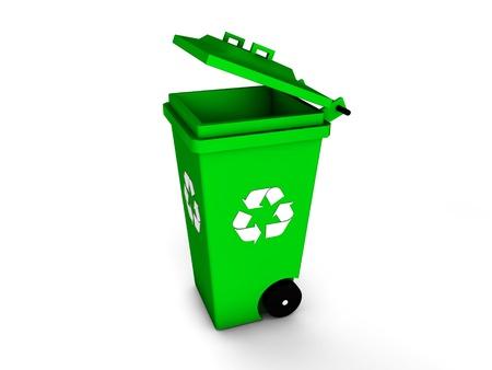 3d recycle bin Stock Photo - 18130558