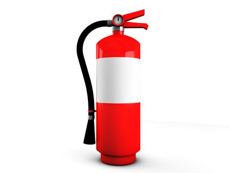 3d fire extinguisher Stock Photo - 18235815