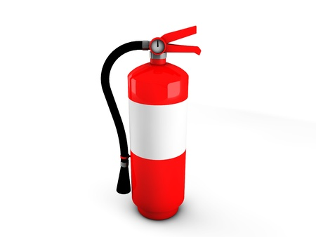 3d fire extinguisher  Stock Photo - 18235812