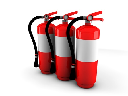 3d fire extinguisher  Stock Photo