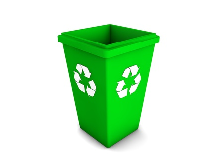 3d recycle bin Stock Photo - 18366699