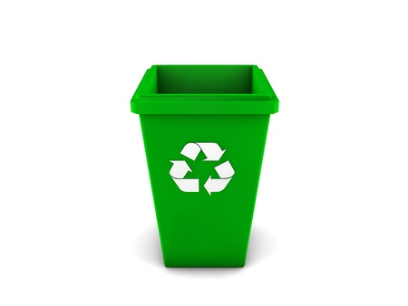 3d recycle bin Stock Photo - 18366695