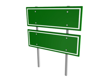 Blank Green Road Sign Isolated Stock Photo Picture And Royalty - Road sign furniture