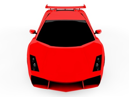 3d red sports car isolated on white background Stock Photo - 18683883