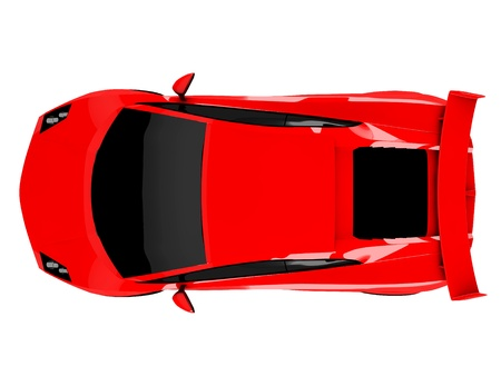 3d red sports car isolated on white background Stock Photo - 18683891