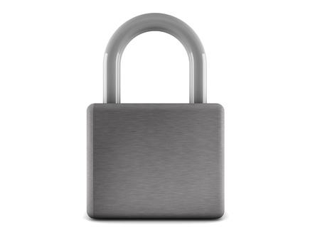 pent: 3d padlock isolated on white background Stock Photo