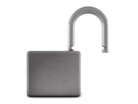 3d padlock isolated on white background Stock Photo - 18683902