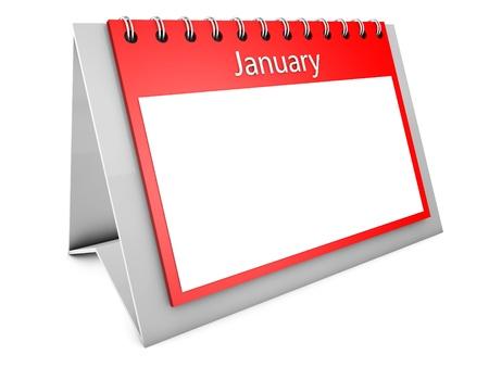 almanac: January blank calendar Stock Photo