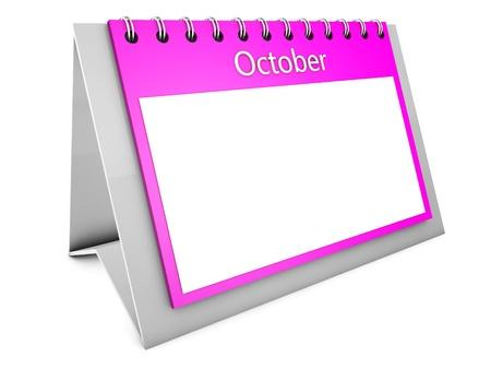 October blank calendar Stock Photo - 19141704