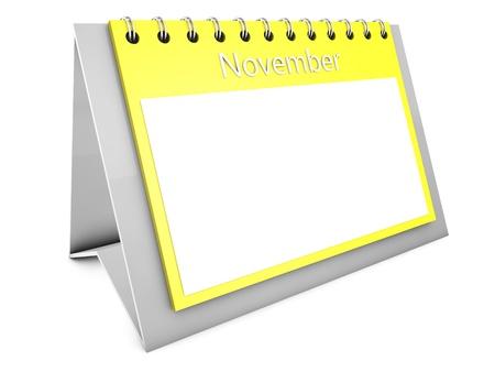 November blank calendar Stock Photo - 19141697
