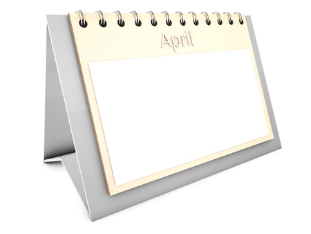 April blank calendar Stock Photo - 19141690