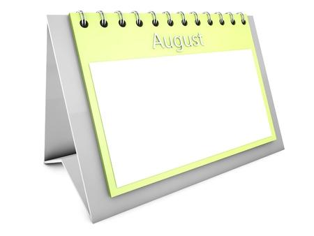 August blank calendar Stock Photo - 19141695