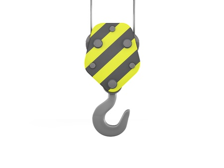 3d construction crane hook  Stock Photo