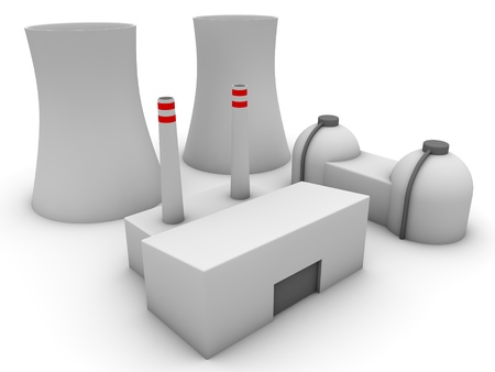 3d Nuclear power plant  photo