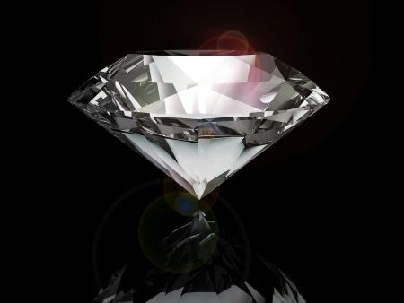 diamant op zwarte achtergrond Stockfoto