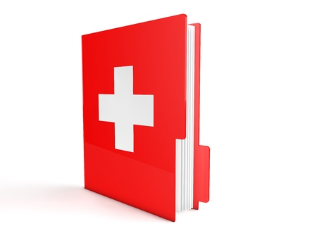 3d red first aid folder photo