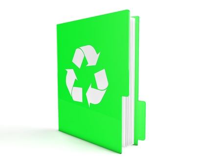 3d green recycle folder Stock Photo