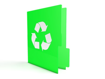 3d green recycle folder photo