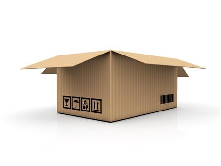 mailmen: cardboard box