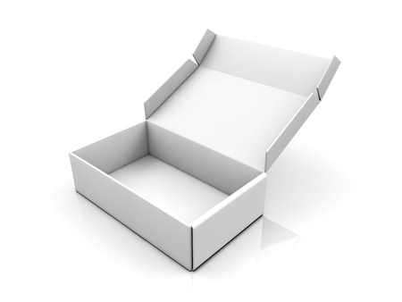 storage boxes: blank boxes isolated on white background