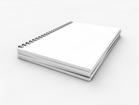 blank realistic spiral notebook