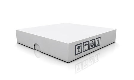 dvd case: blank boxes isolated on white background