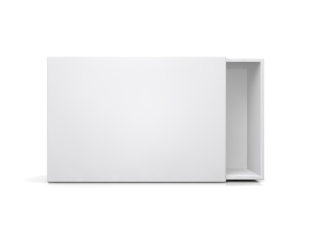 computer case: blank boxes isolated on white background