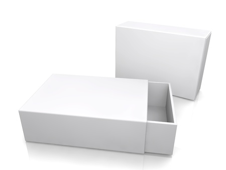 blank boxes isolated on white background  photo
