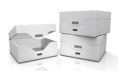 matchbox: blank boxes isolated on white background
